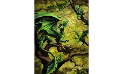 Walddrache by Anne Stokes