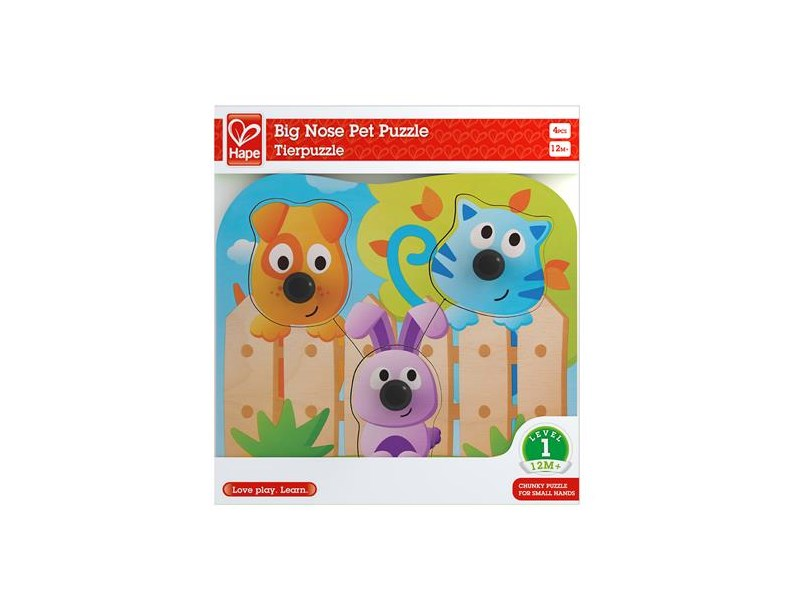 hape puzzle big nose pet puzzle anz teile 4 puzzle. Black Bedroom Furniture Sets. Home Design Ideas