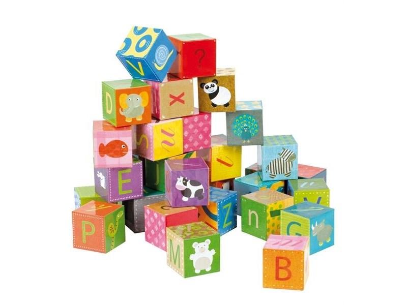 janod puzzle kubkid 32 w rfel alphabet anz teile 32. Black Bedroom Furniture Sets. Home Design Ideas