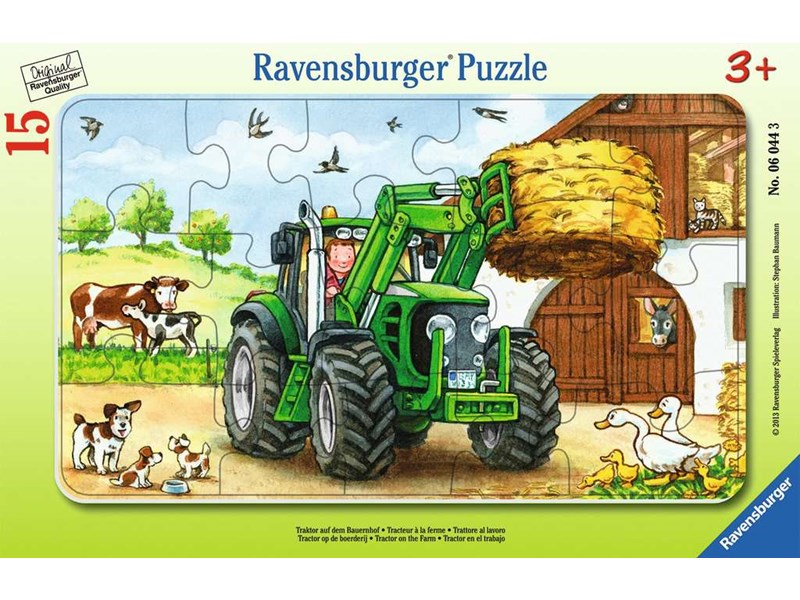 ravensburger puzzle traktor auf dem bauernhof anz teile 15 puzzle. Black Bedroom Furniture Sets. Home Design Ideas