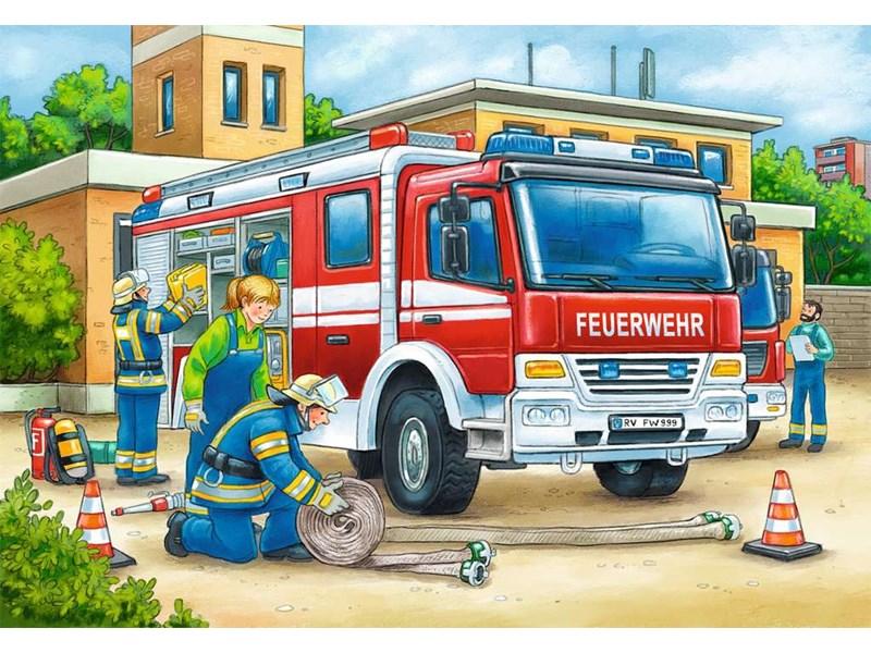 ravensburger puzzle polizei und feuerwehr anz teile 2x12