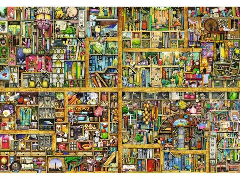 Bücherregal gezeichnet  Ravensburger Puzzle Magisches Bücherregal XXL Anz. Teile: 18000 ...