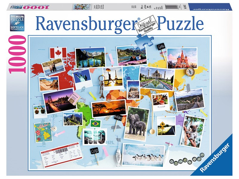 ravensburger puzzle reise um die welt anz teile 1000. Black Bedroom Furniture Sets. Home Design Ideas