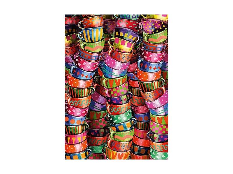 schmidt puzzle bunte tassen anz teile 500 puzzle. Black Bedroom Furniture Sets. Home Design Ideas
